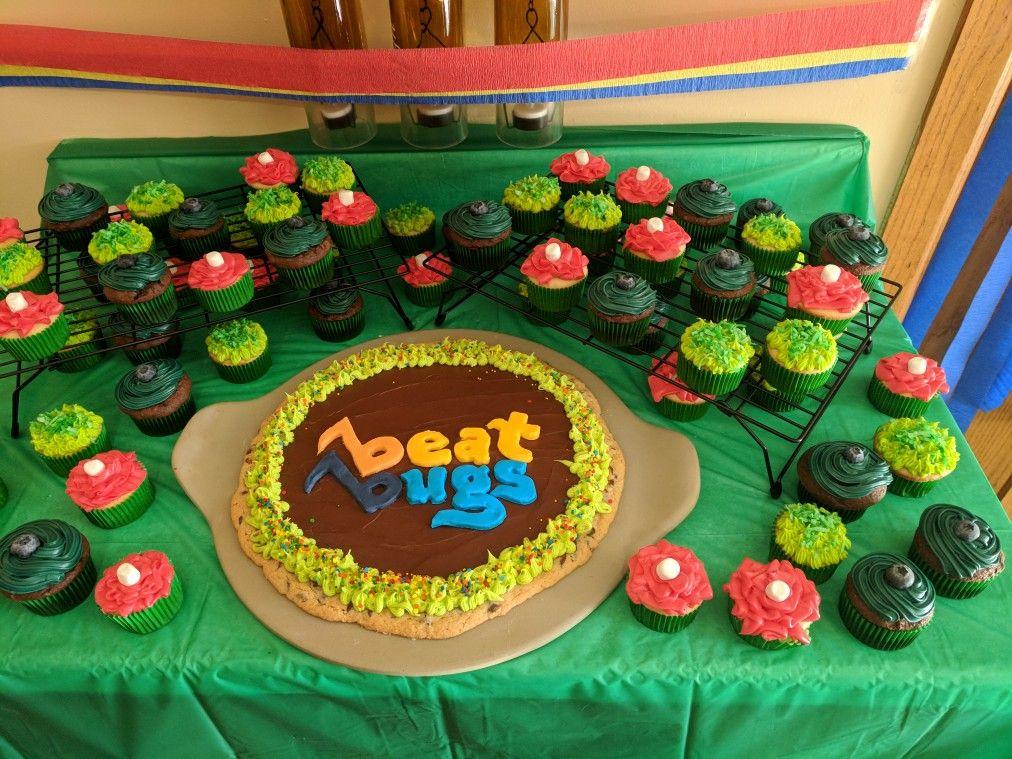 Sensational Beat Bugs Cake Idea Bug Birthday Cakes Birthday Cake Kids Funny Birthday Cards Online Overcheapnameinfo