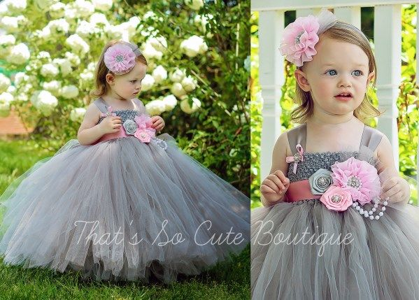 Pink and gray flower girl tutu dress pink gray grey tutu dress pink and gray flower girl tutu dress pink gray grey tutu dress flower girl wedding thats so cute boutique mightylinksfo