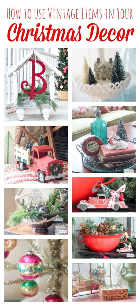 How to Use Vintage Decor at Christmas Vintage decor, Yard sales