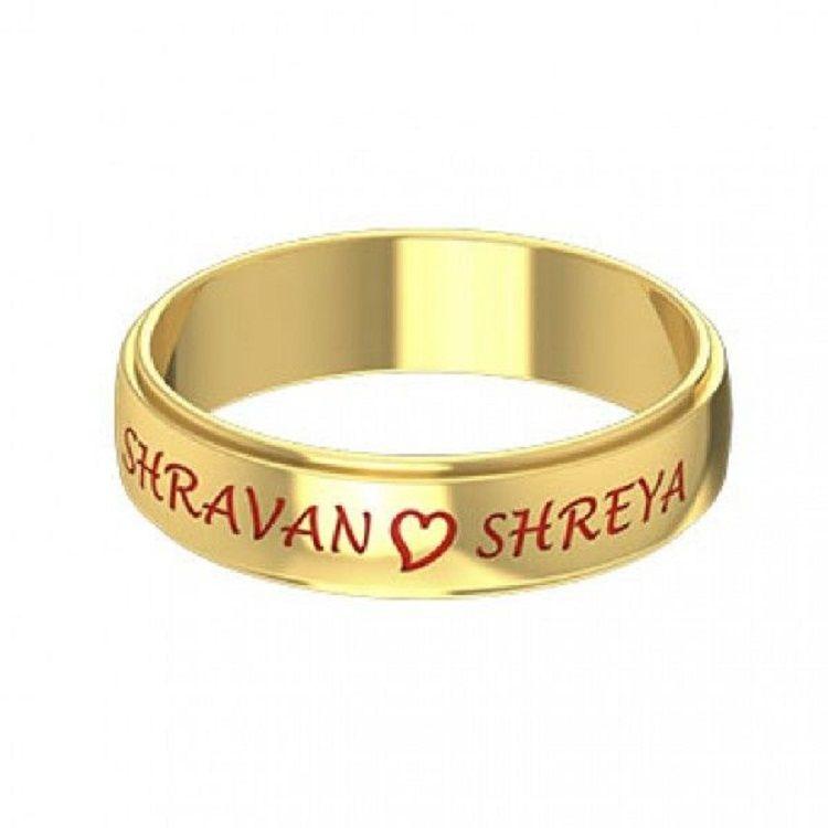 Kerala Wedding Ring Wedding Ring With Name Engraved Wedding