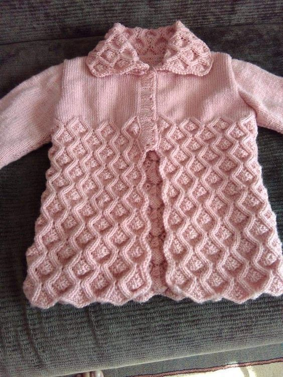 Photo of Pink cardigan for girls Knitting models – knitting lace models