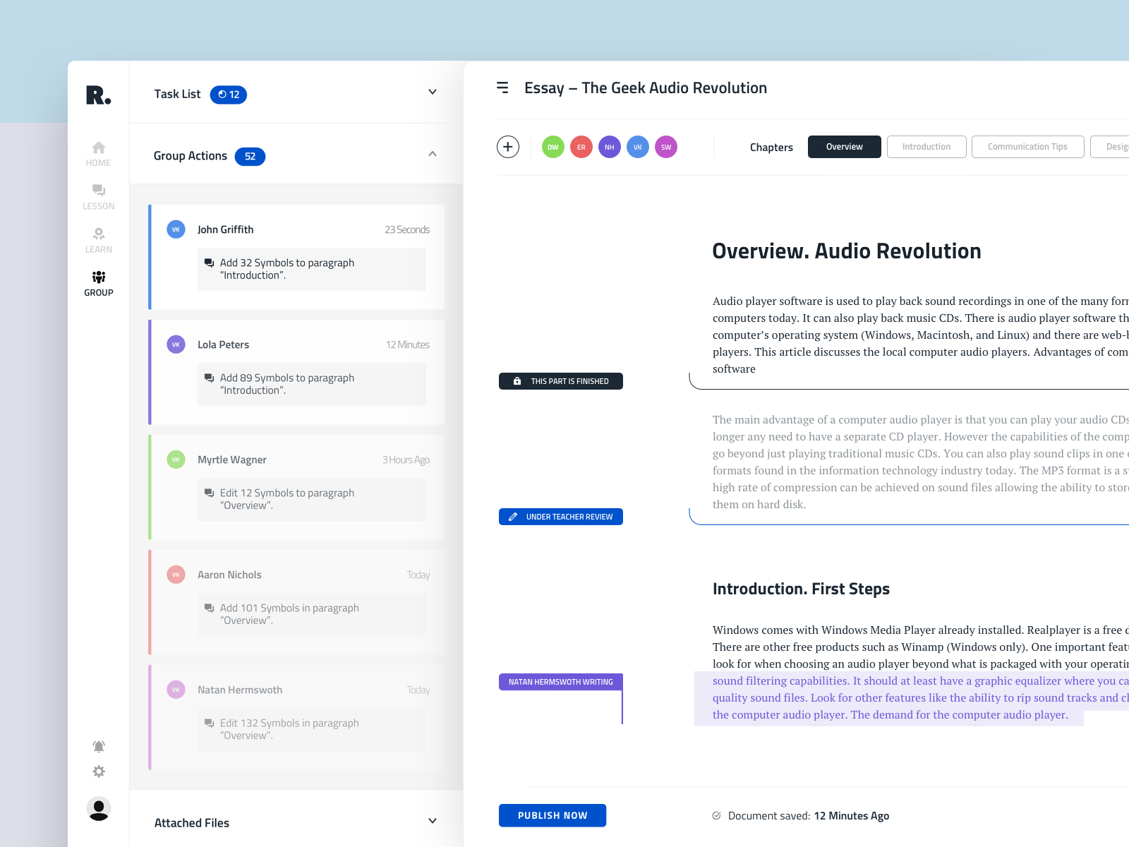 Text Editor Interface For Education Platform Text Editor Web Design Tools Interface