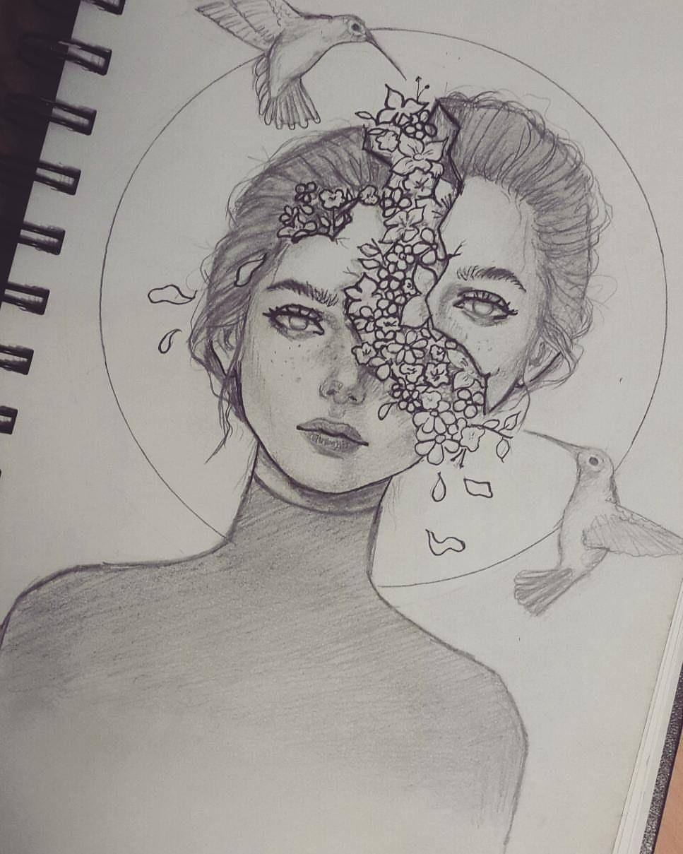 "maryam mubarki on Instagram: ""♥✏🌼🌺 #sketches #sketch #sketching"""