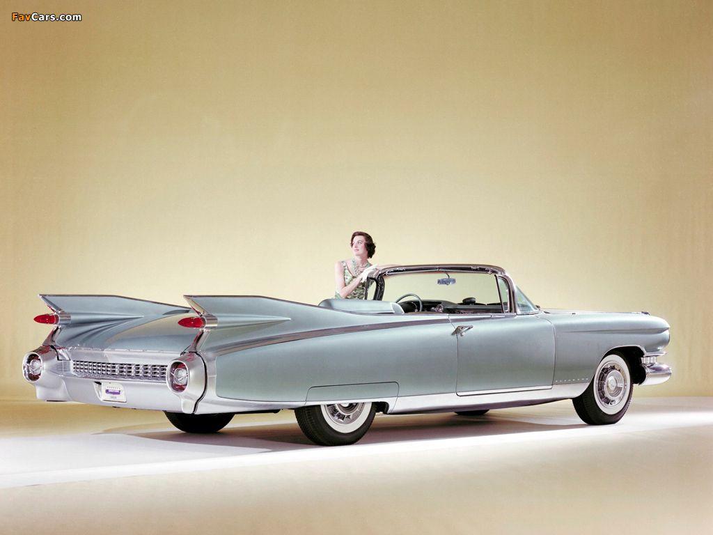 Cadillac eldorado 1959 convertible with woman