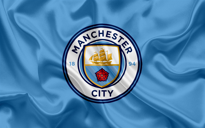 Download Wallpapers Manchester City Football Club New Emblem Premier League Football Manchester United Kingdom England Flag Emblem Manchester City Log Manchester City Wallpaper Manchester City Logo Manchester City