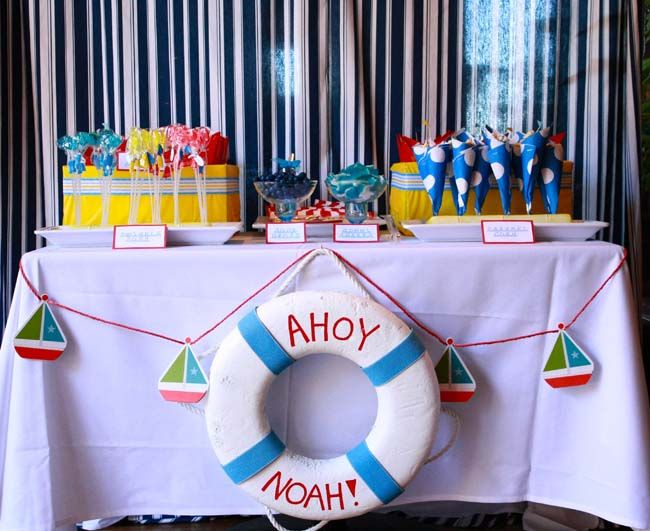 nautical table decorations dessert table ideas baby shower photograph nautical themed