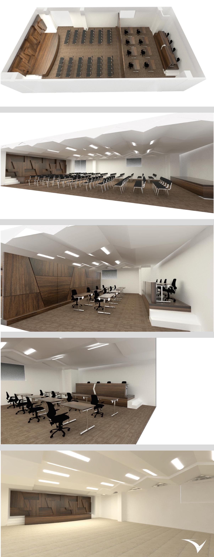 Proyecto de interiorismo, Salón de eventos, Alcaldía de Fontibón