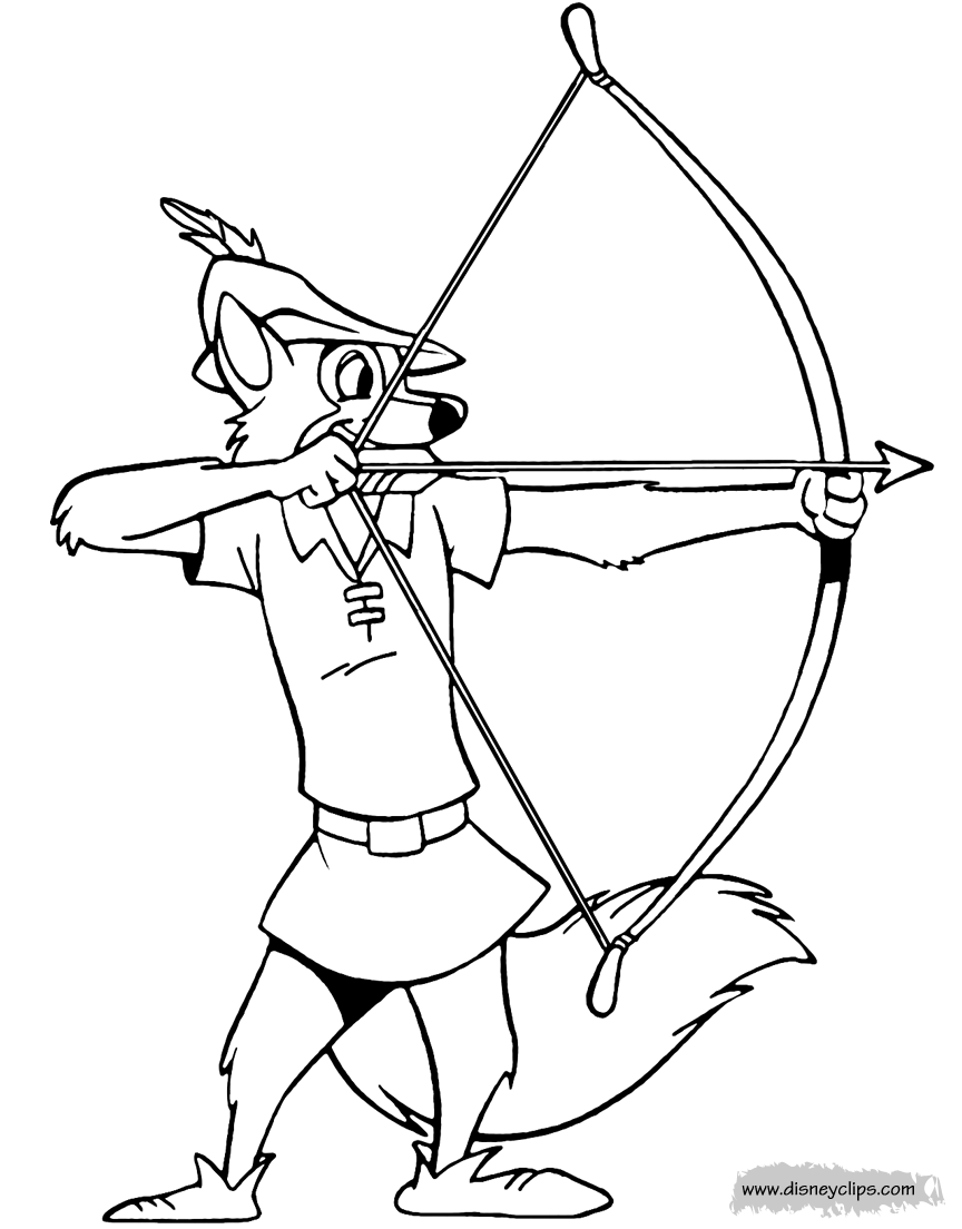 Robinhood Disney Coloring Pages Printables Disney Coloring Pages Robin Hood