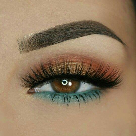 Pretty eye makeup in pastel and gold #eyemakeup #makeup #eyeshadow
