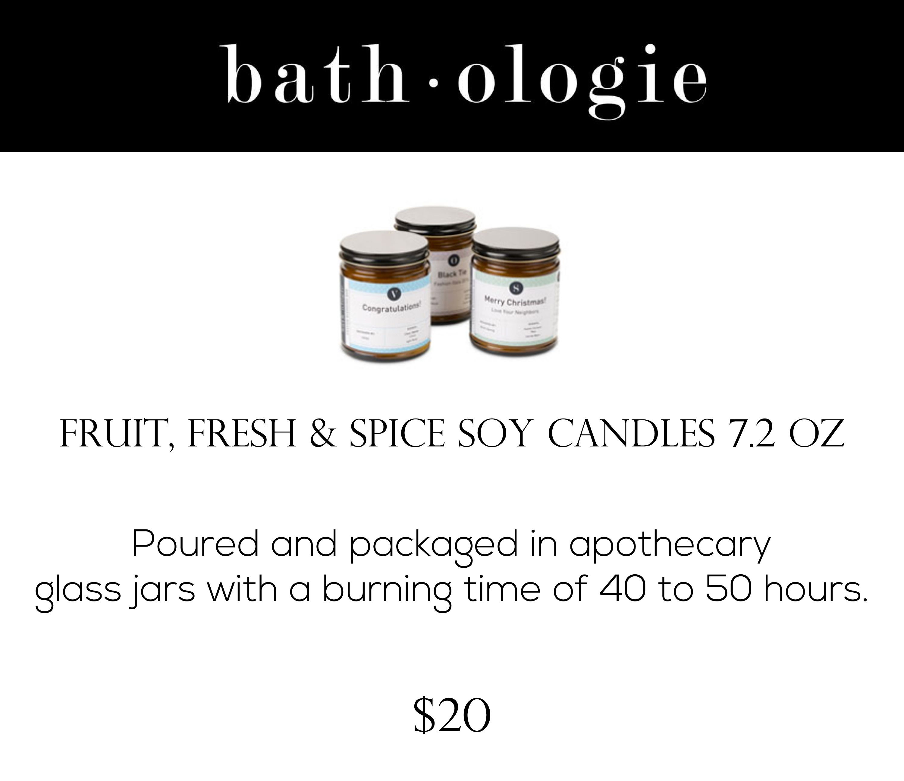 Soy candles by Bathologie