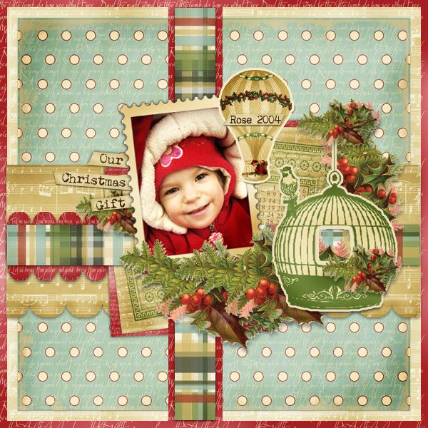 Best gift of all children scrapbook page layout would for Christmas layout ideas