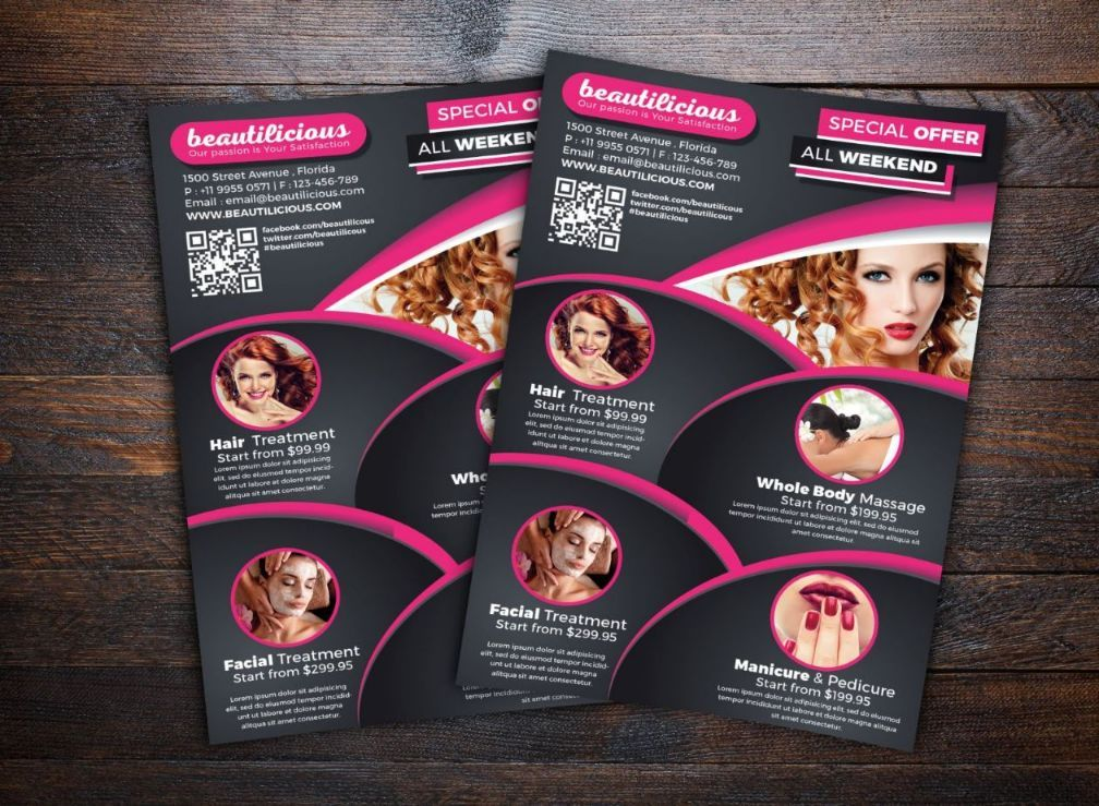 Beauty Salon Flyer Template Psd Ai And Vector Eps Format