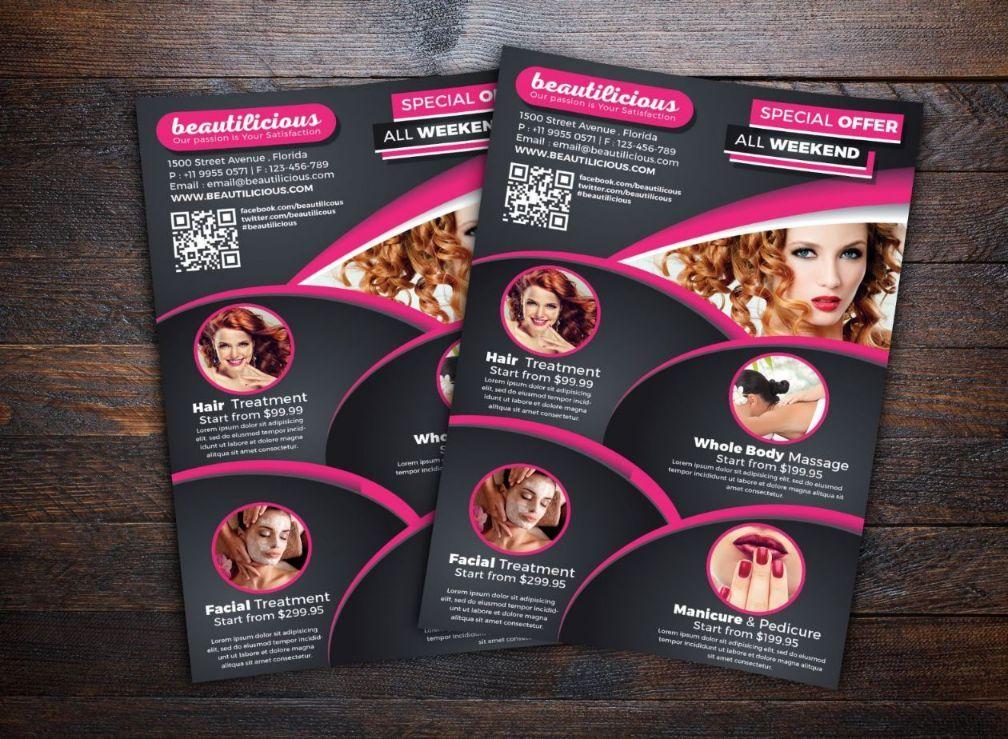 Beauty Salon Flyer Template Psd Ai And Vector Eps Format