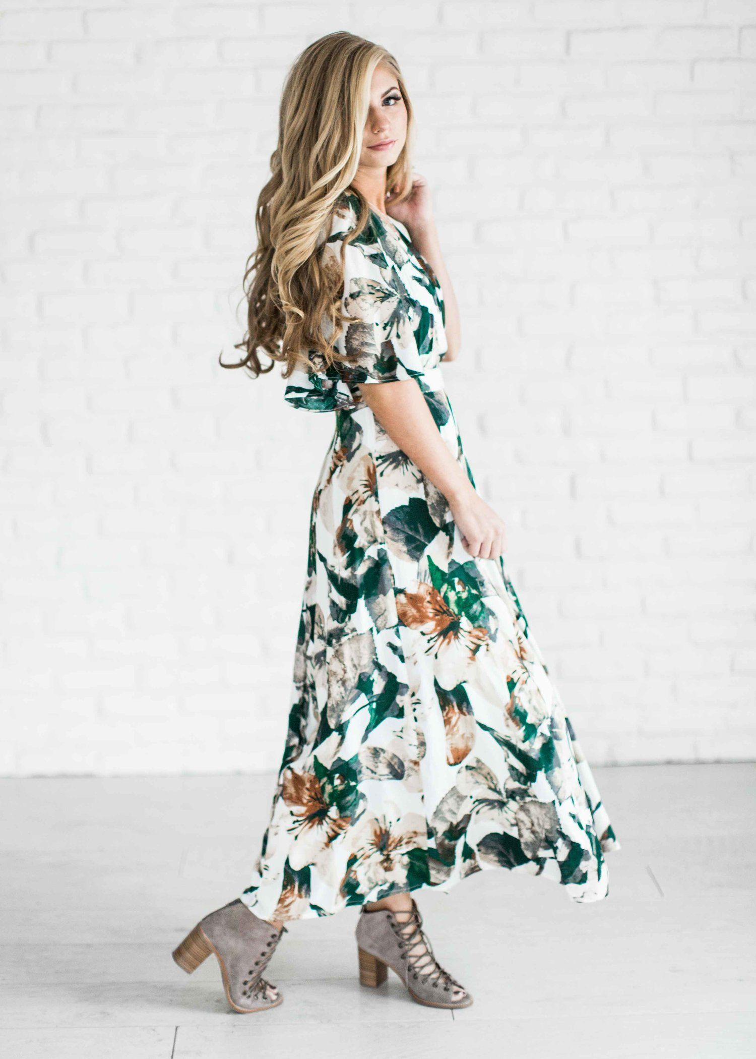 maxi dress, spring dress, floral dress, easter dress, shop, style ...