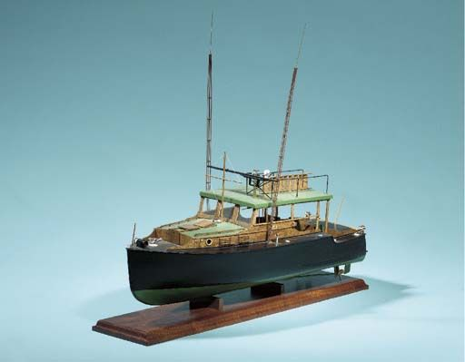 A MODEL OF ERNEST HEMINGWAY'S YACHT PILAR COOK, C. (AMERICAN, 20TH CENTURY