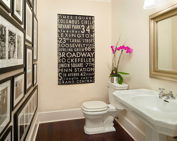 LOVE The Wall Of Photos In All Matching Black Frames With Black And White  Photos. Bathroom GalleryGallery WallsBathroom IdeasBathroom Subway ArtWood  ...