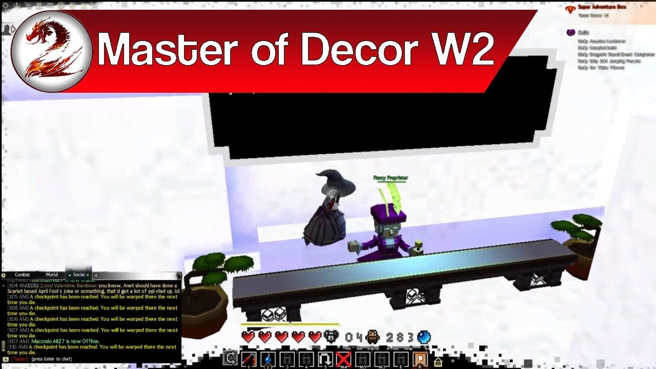 Guild Wars 2 Super Adventure Box Fancy Furniture Coin S Master Of