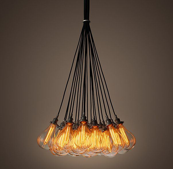 TEARDROP GLASS FILAMENT CHANDELIER