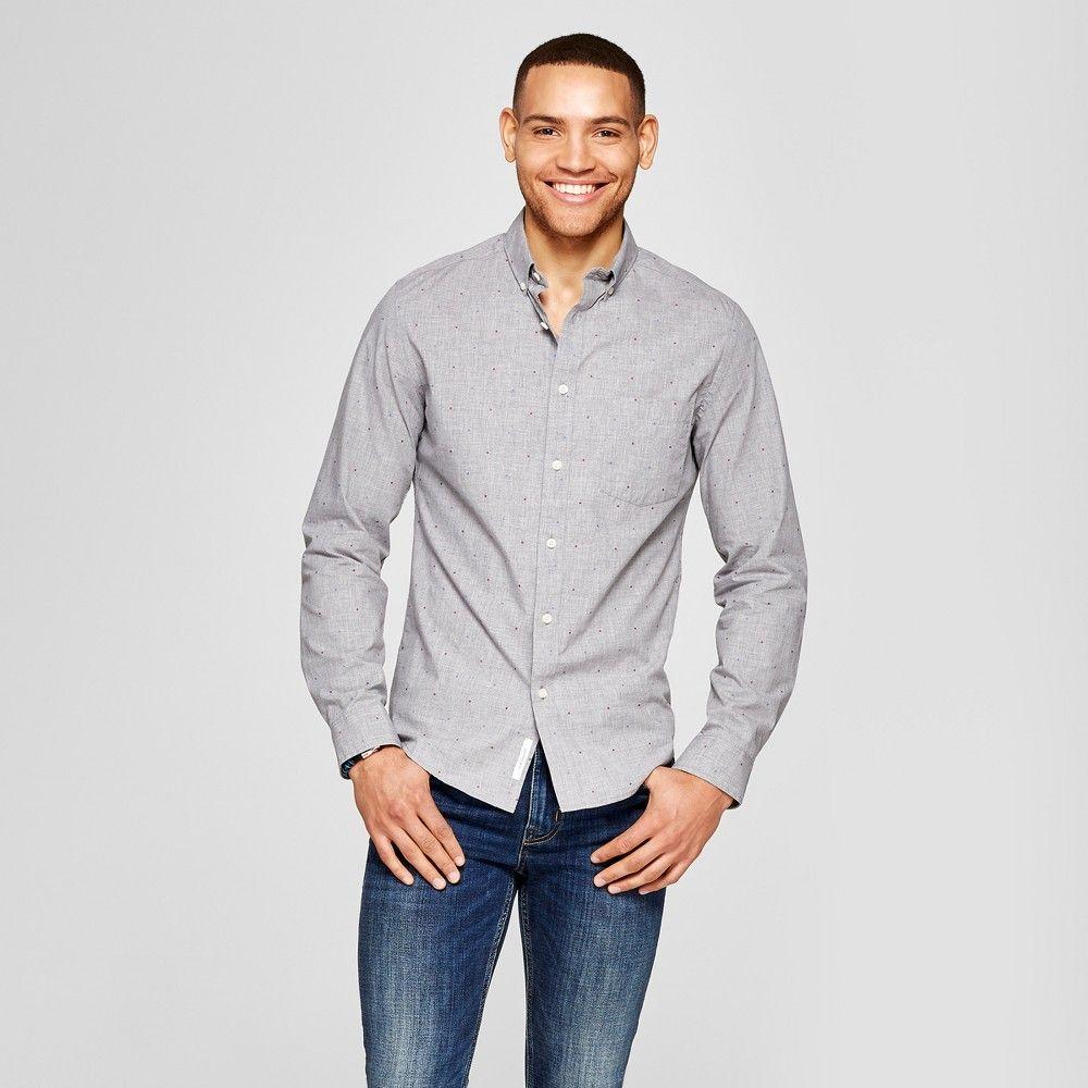 Mens slim fit northrop long sleeve buttondown shirt