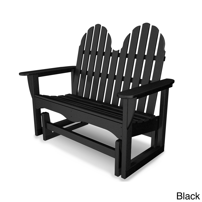 Classic Adirondack 48- Glider Black Patio Furniture
