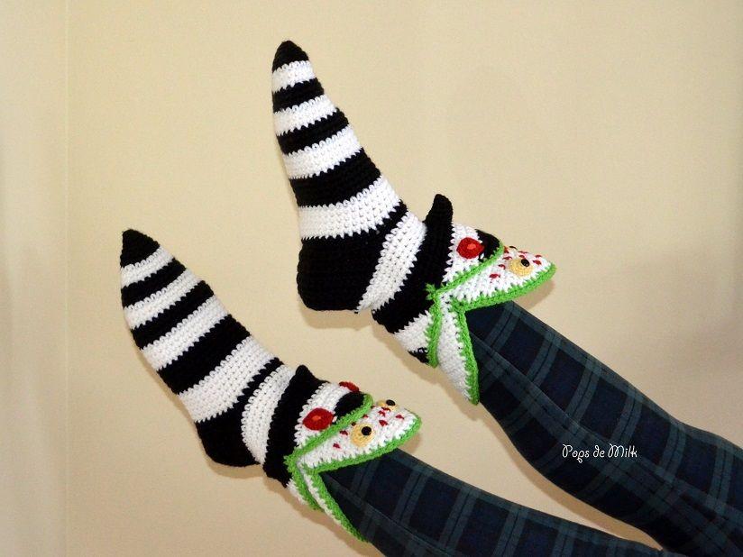 Sandworm Slipper Socks Part 2 Pops De Milk Slippers Pattern Halloween Crochet Crochet Geek