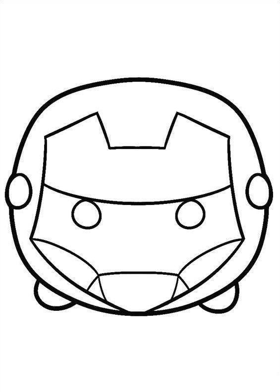 Kids N Fun Coloring Page Tsum Tsum Iron Man Tsum Tsum Coloring Pages Cool Coloring Pages Coloring Books