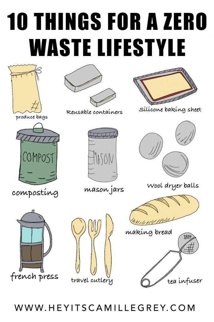 10 Things For a Zero Waste Lifestyle | Hey Its Camille Grey #zerowaste #ecofriendly #sustainable #earthweek