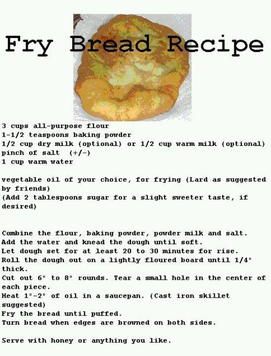 Mmmm Fried Bread Recipe Food Mexican Food Recipes