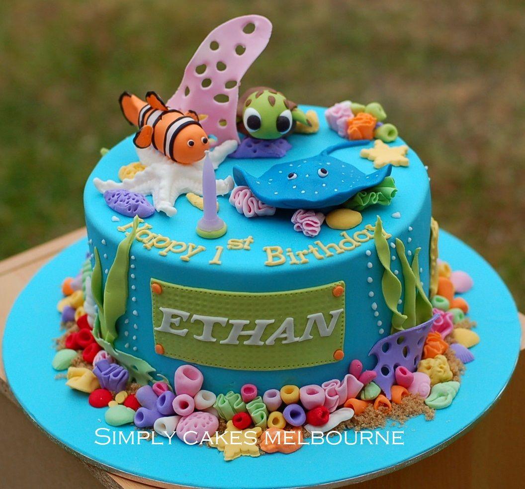 Fine Aquarium Cake For Her Bday Ocean Cakes Sea Cakes Aquarium Cake Funny Birthday Cards Online Necthendildamsfinfo