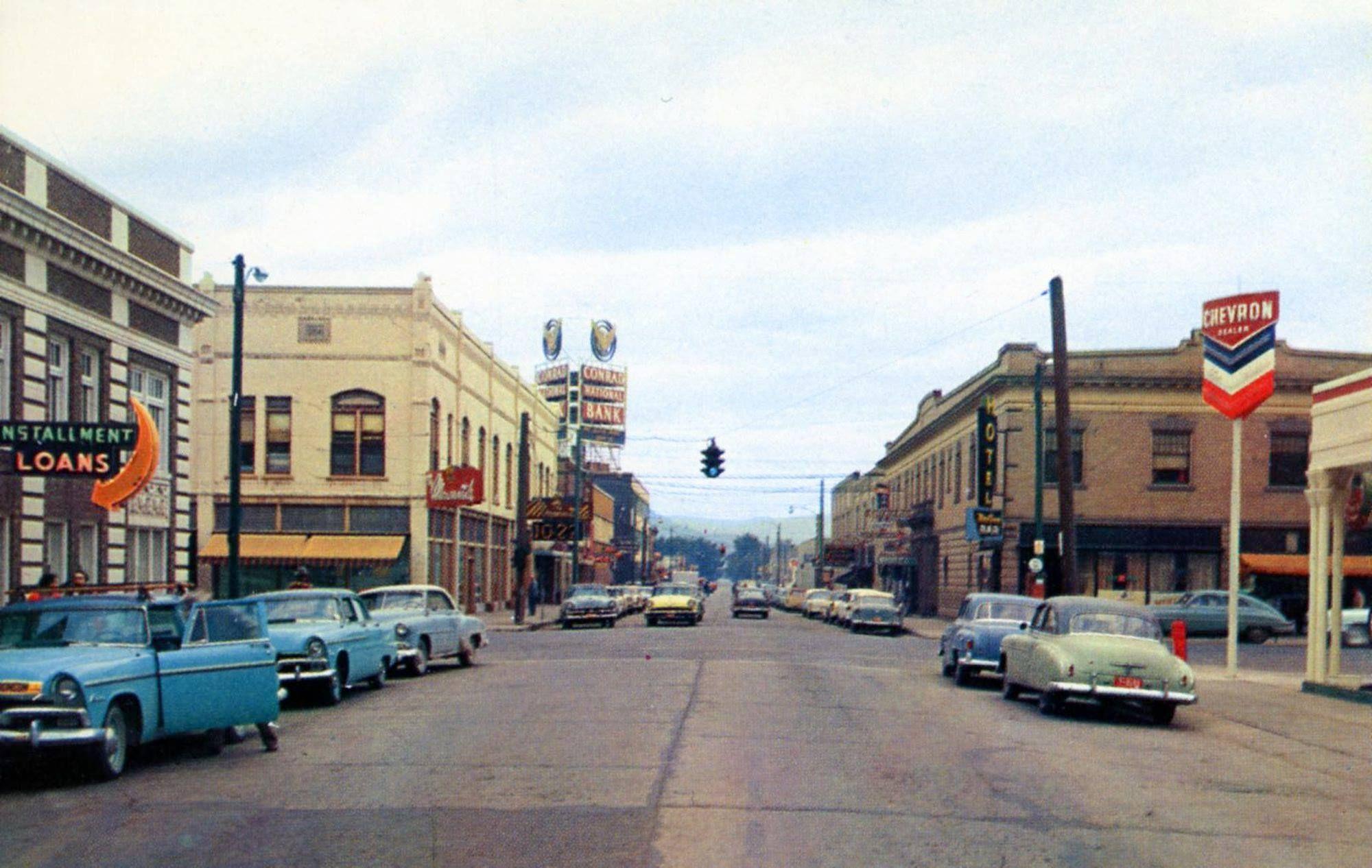 Main Street, Kalispell, Montana, 1955