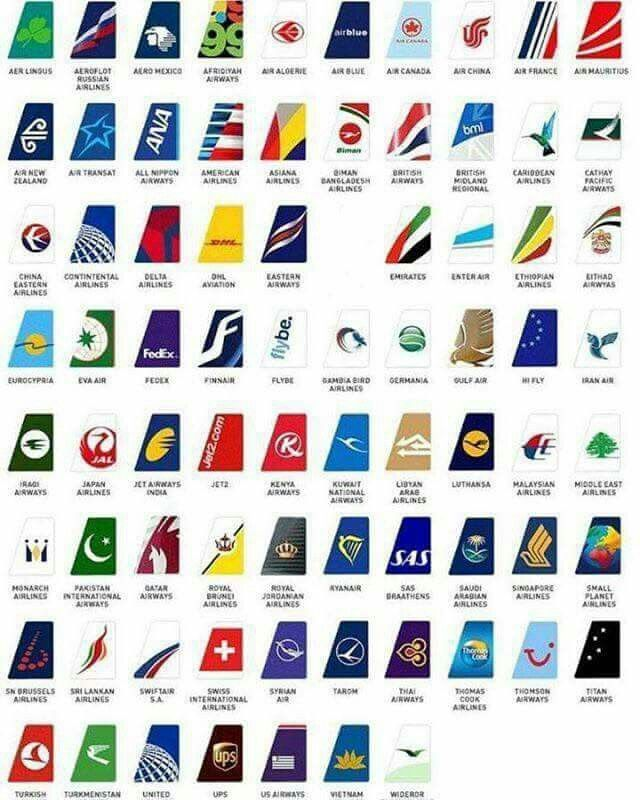 Airlines tail logo airliners pinterest avion et avions for International design company