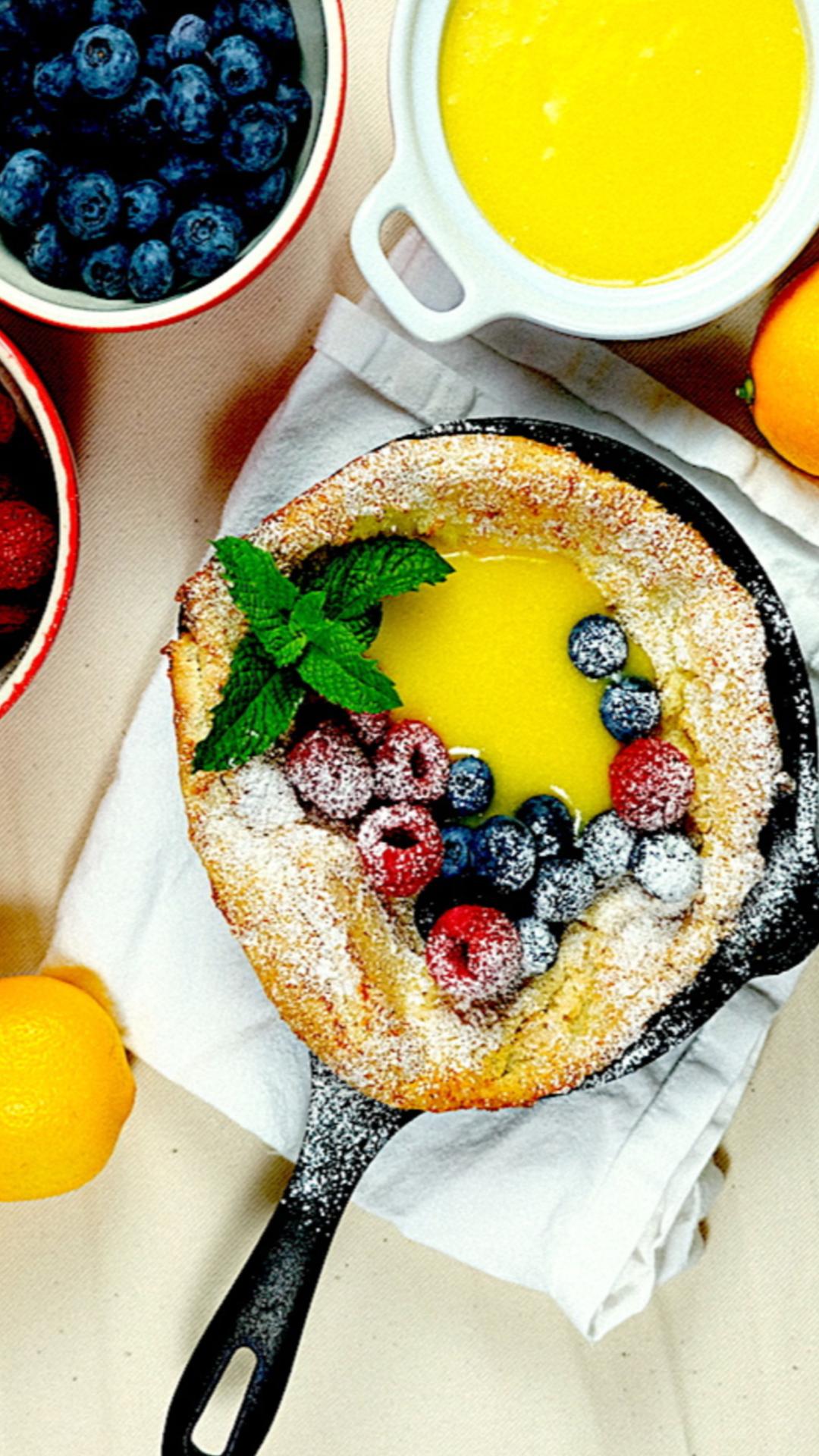 Dutch Baby Pancakes | Baby pancakes, Food, Lemon curd recipe