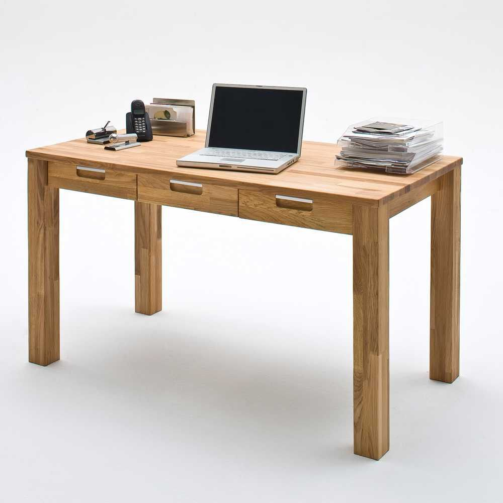 Schreibtisch Remona aus Wildeiche Massivholz | Schreibtische ...