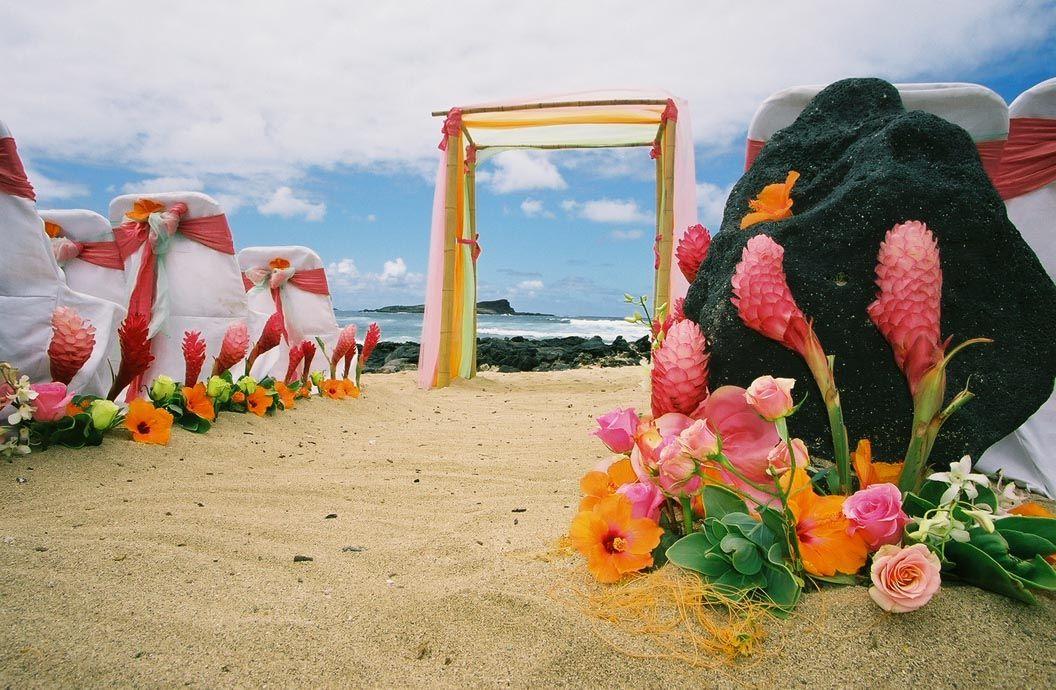Caribbean wedding ideas & inspiration. Tropical pagoda