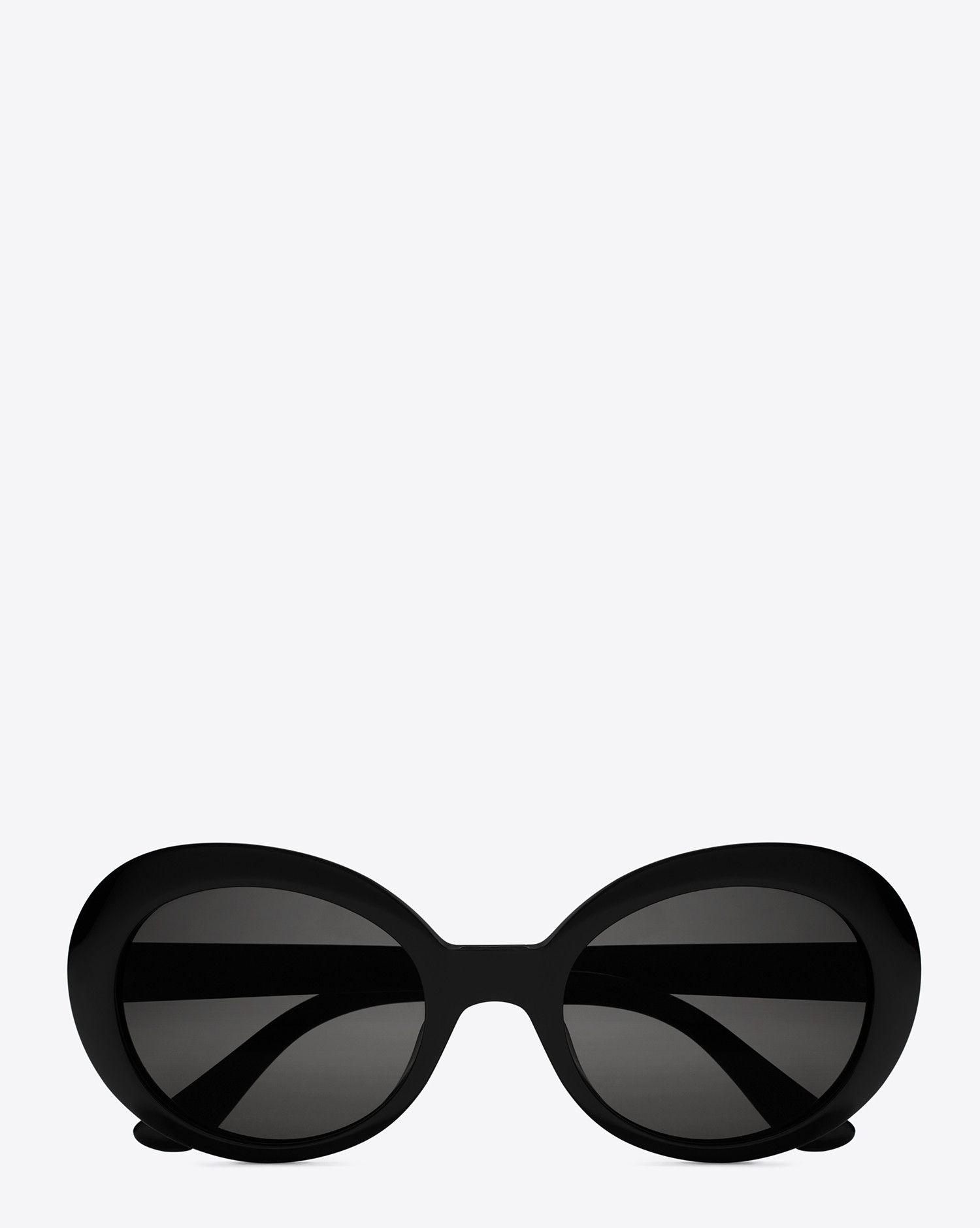 f6075197fc Saint Laurent New Wave 98 California Sunglasses In Black Acetate With Smoke  Lenses