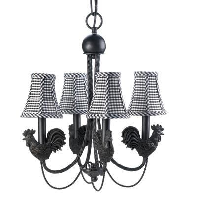 Montebello Rooster Chandelier Lamp Hanging Chandelier Country