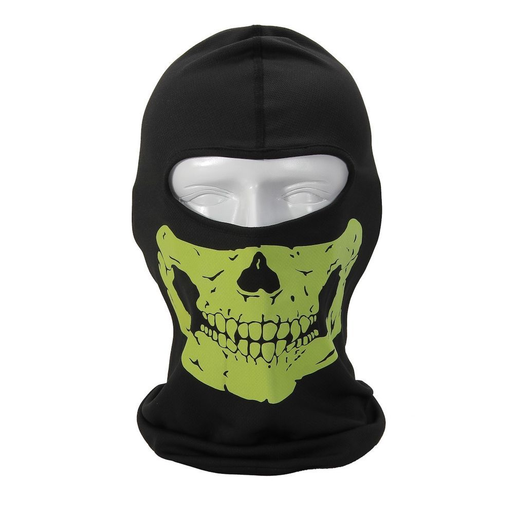New Fluorescent Green Cycling Skull Full Face Mask Cover Anti Dust
