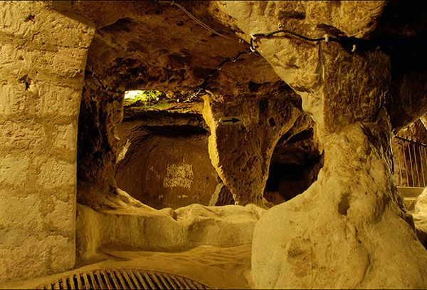 This Guy Knocked Down A Wall In His House He Never Expected This To Behind It Woah Ancient Underground City Underground Cities Underground