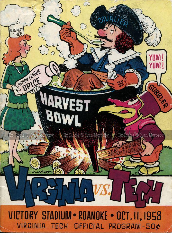 1958 1958 10 11 Vt Vs Uva Virginia Tech Football Hokies Football Hokies