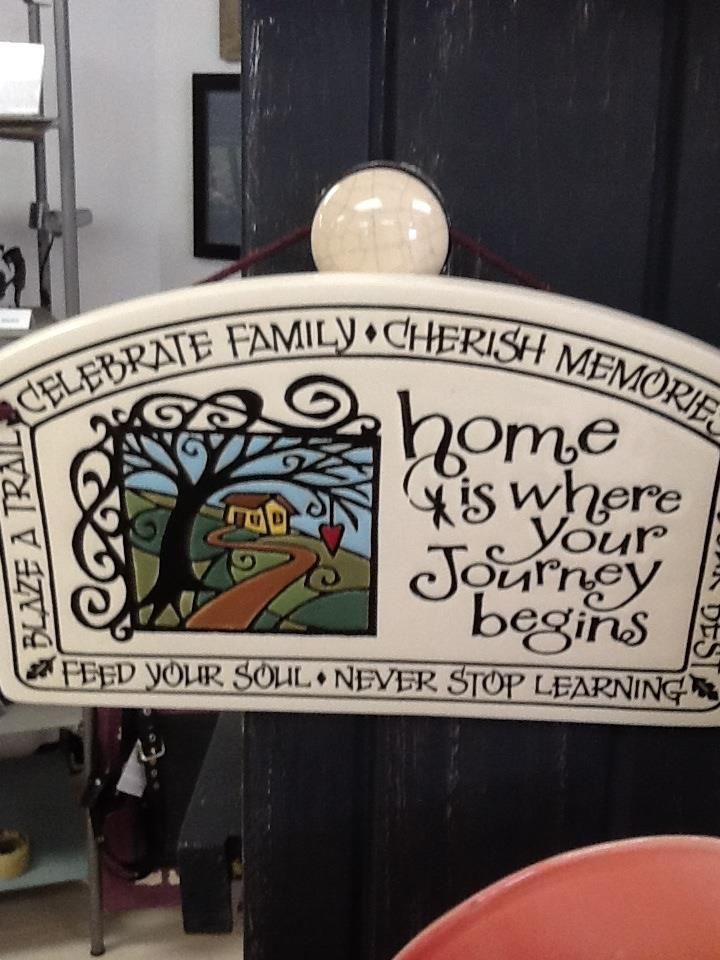 ceramic plaque.  Great housewarming gift!  #ceramic #plaque #home #gift #housewarming #twohens