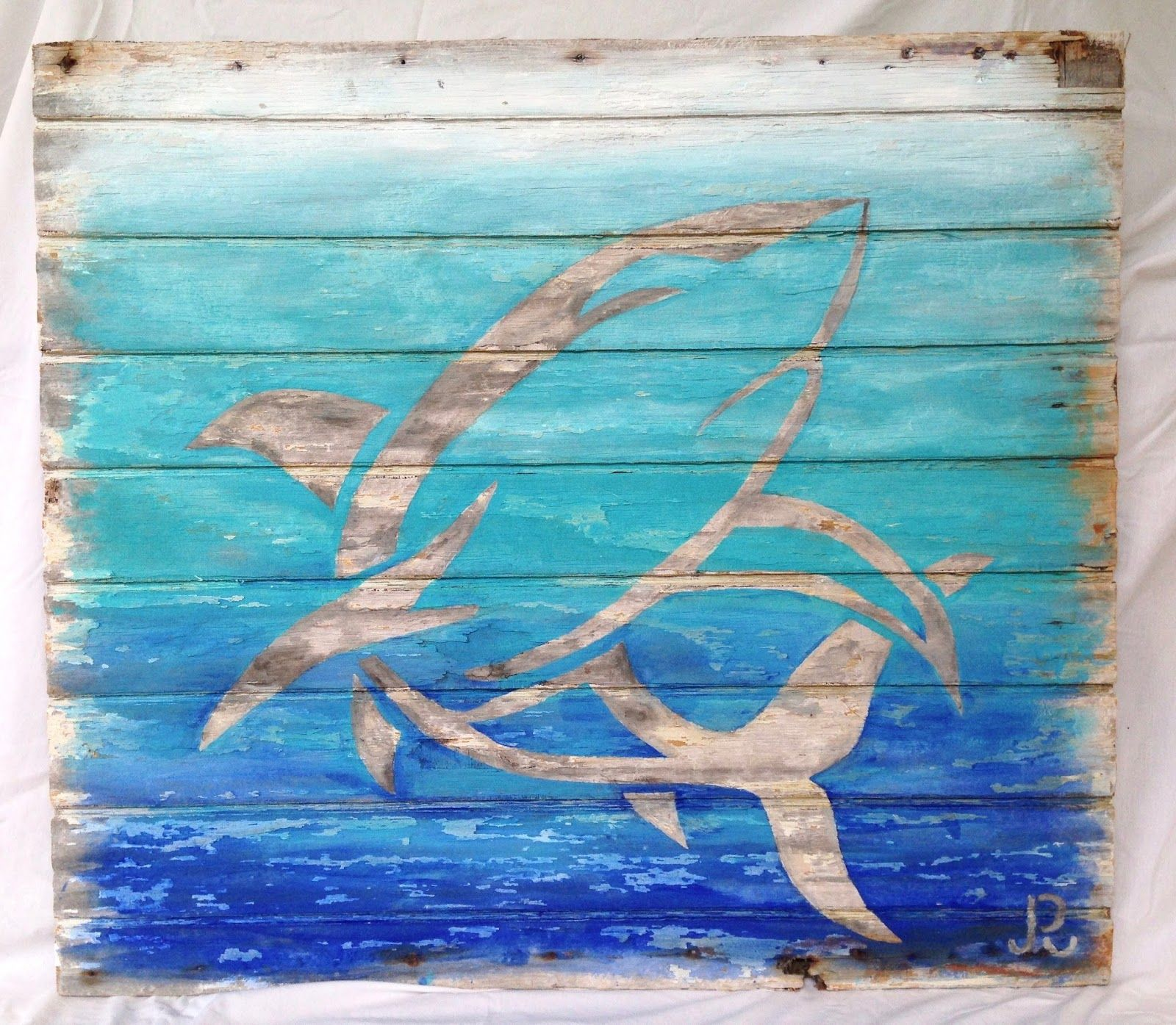 Paula Reynolds Art Reclaimed Wood Beach Abstract