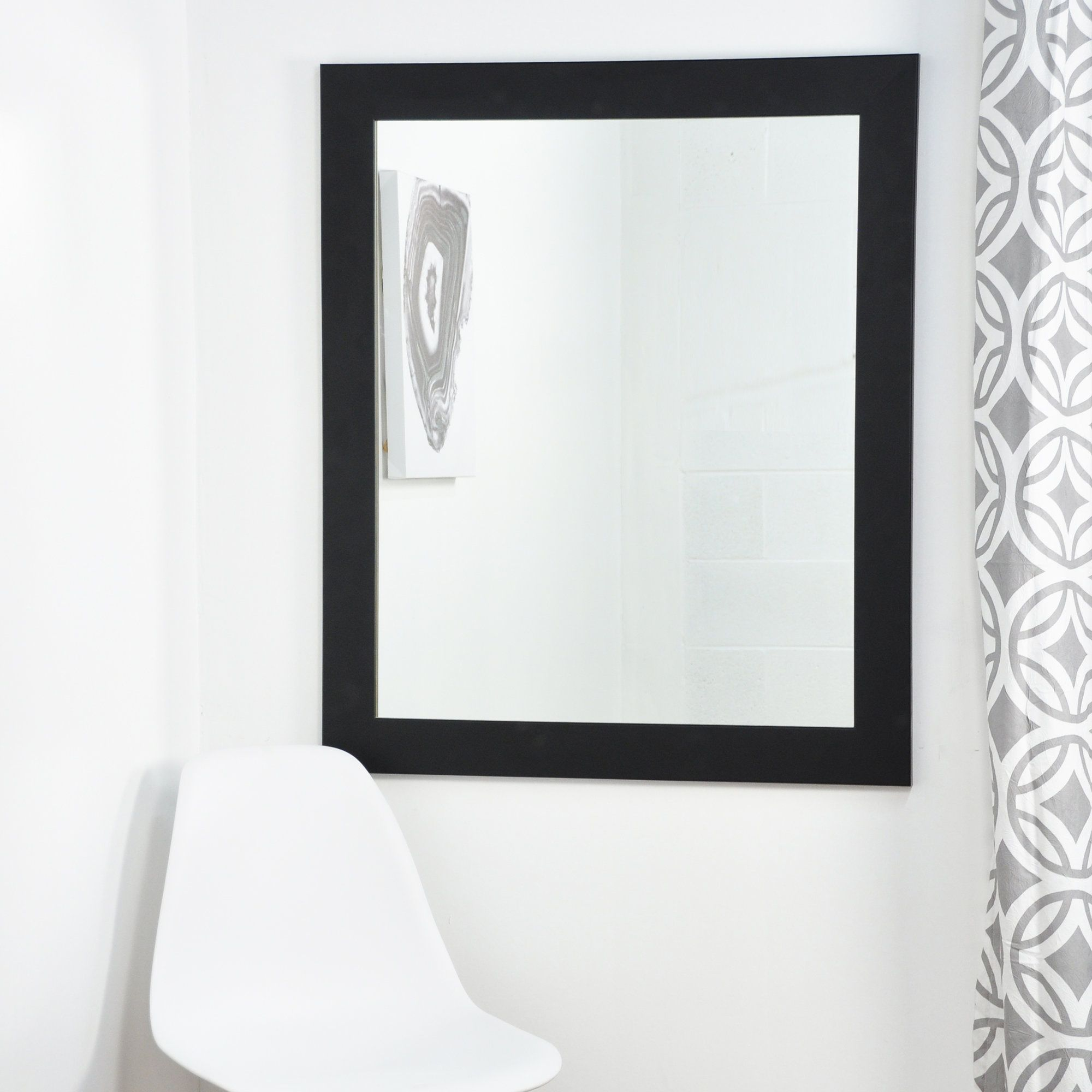 Black and White Designer Wall Mirror Mirror wall, White