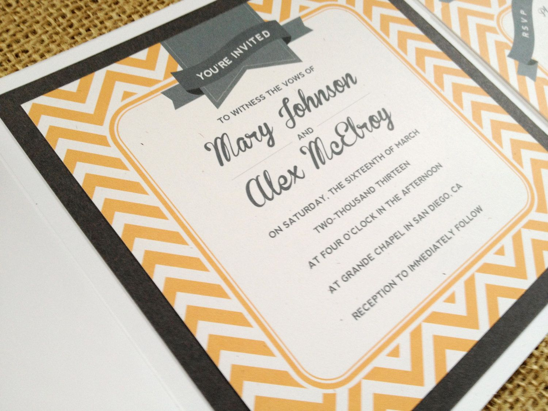 Modern Vintage Wedding Invitations | Wedding Ideas