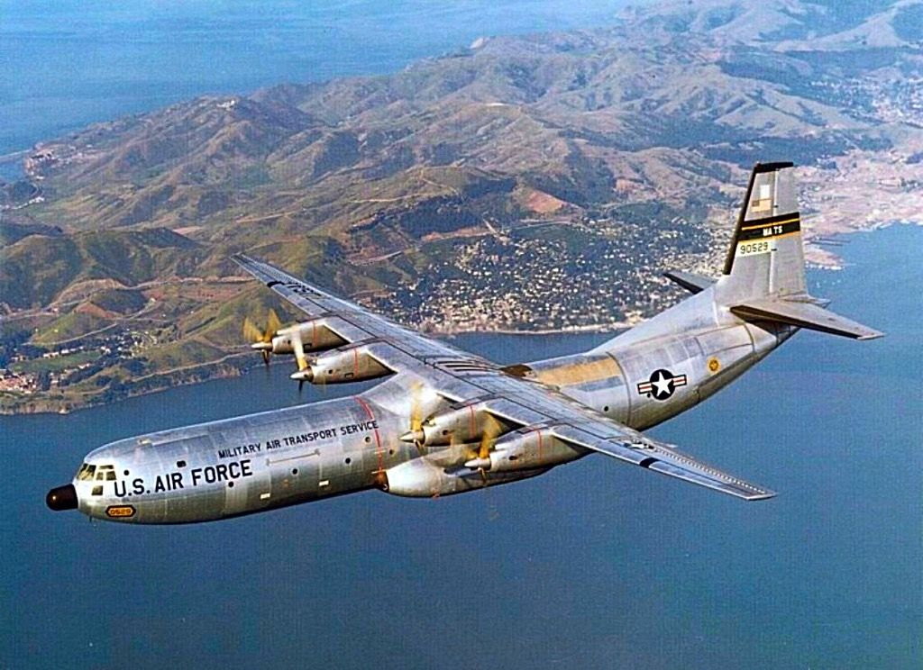 USAS MATS Douglas C133 Cargomaster. Douglas aircraft