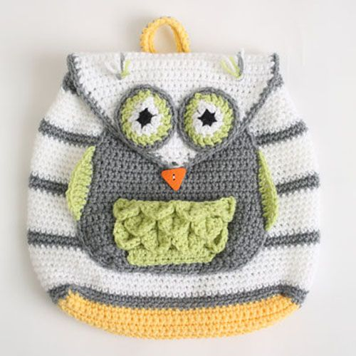 Owl See You At School Backpack Crechet Pattern Crochet For