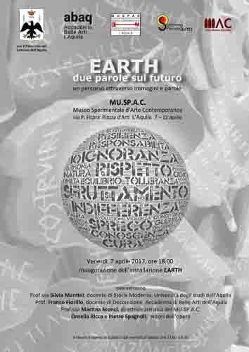 EARTH  due parole sul futuro Un progetto di immagini e parole