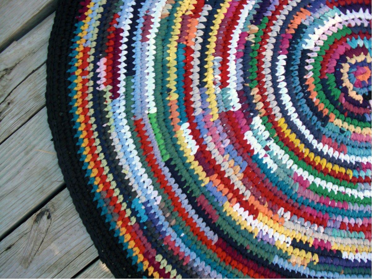 Crocheted Rag Rug Patterns | crochet | Pinterest