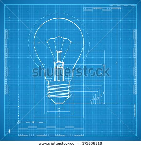 Blueprint of bulb lamp Stylized vector illustration Blueprints - copy blueprint network design