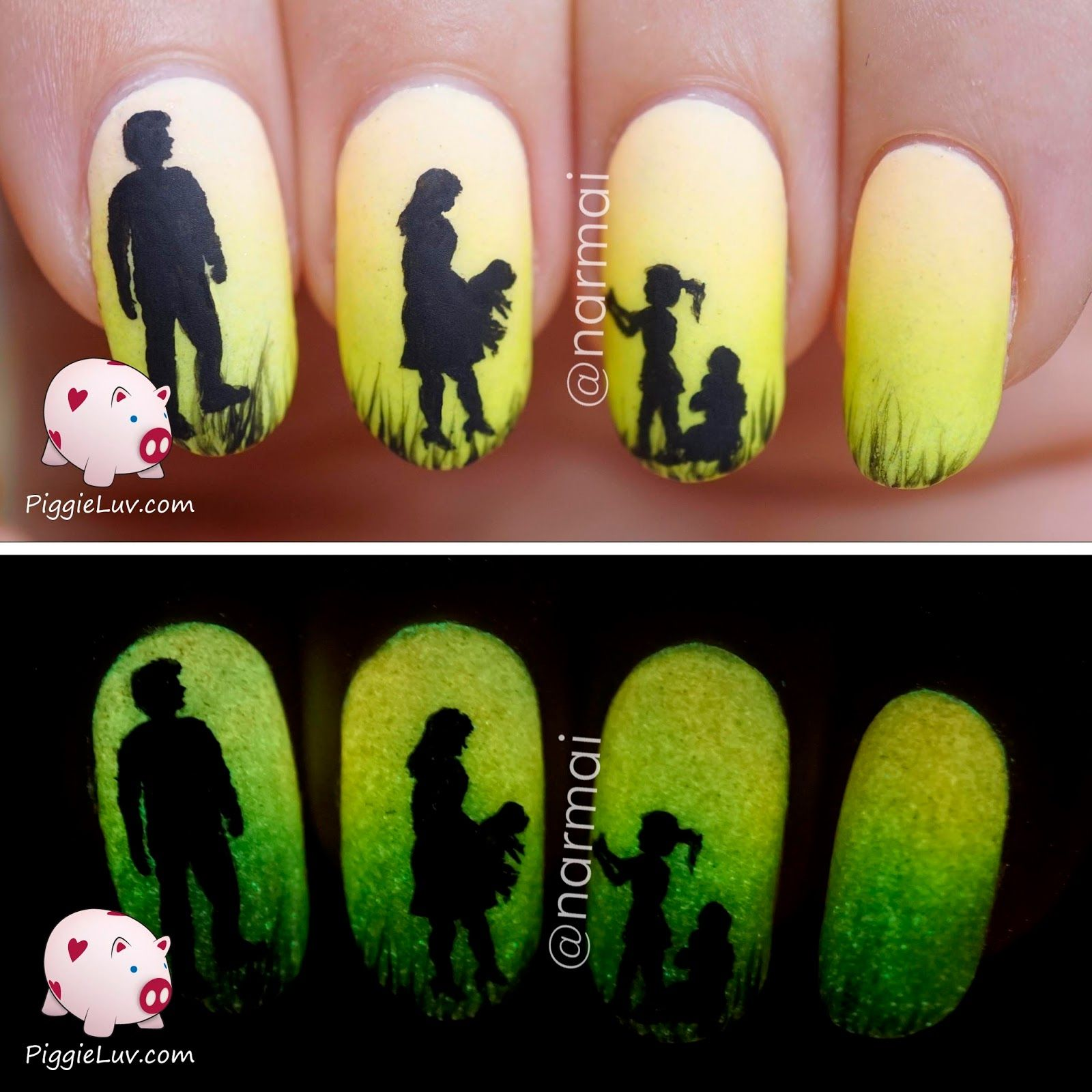 Epic Dog Story (5 glow in the dark manis!!!)   Dog stories, Nail ...