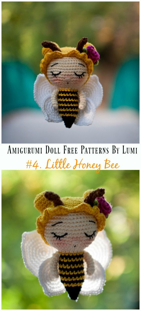 Amigurumi Doll Softies Crochet Free Patterns By Lumi [Papillon En Papier] #crochetamigurumifreepatterns